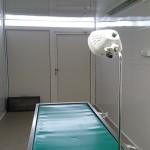 Zdjęcie ze środka mobilnego punktu zabiegowego